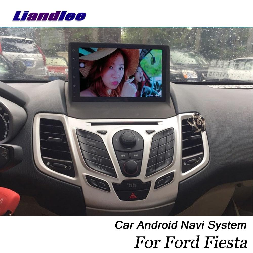 Sistema Android Liandlee para coche para Ford Fiesta ST 2008 ~ 2019 Radio GPS navegador mapa Cámara WiFi BT Multimedia sin reproductor de DVD
