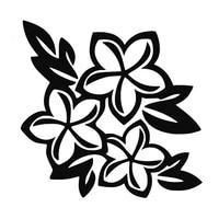 1615 6cm flower hibiscus auto truck window sticker decal car styling car sticker car accessories