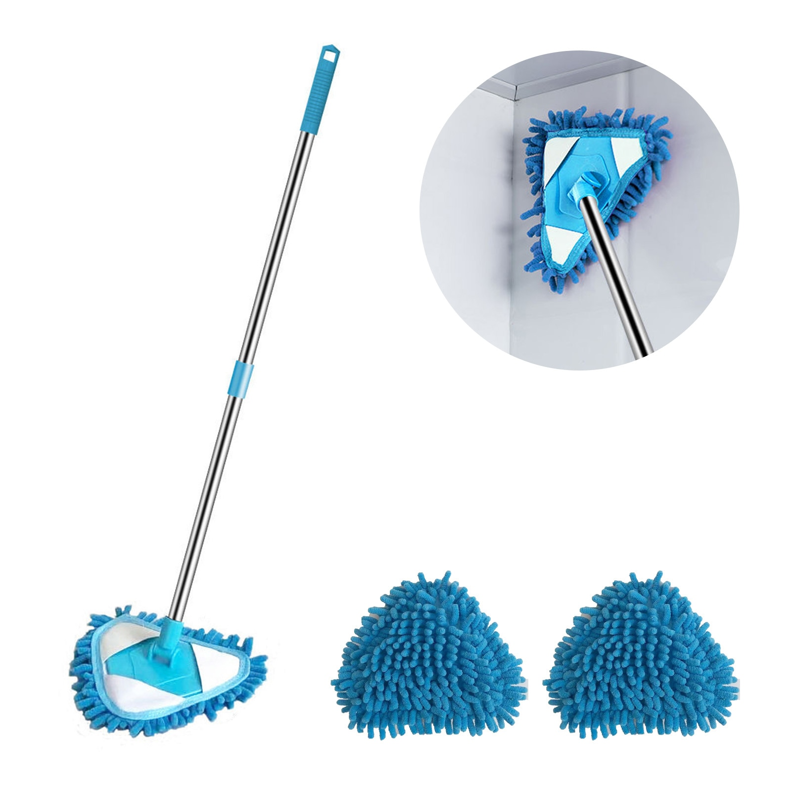 lazy triangle cleaning mop retractable instant water cleaning mop rotatable triangle dust mop for mirror glass ceiling corn Lazy Triangle Cleaning Mop Retractable instant Water Cleaning Mop Rotatable Triangle Dust Mop For Mirror, Glass, Ceiling,corn