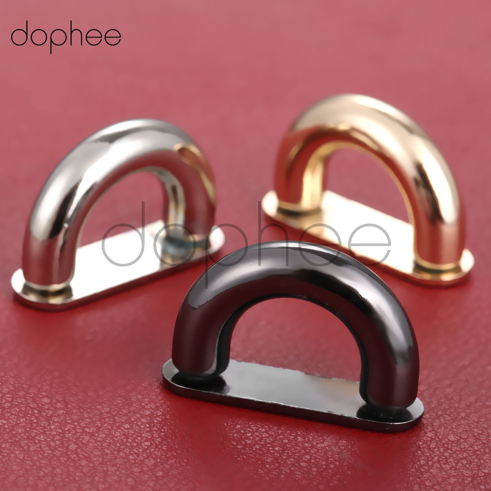 dophee 2pcs  4colors Inside width 13mm DIY handbag/bag silver metal accessories bridge connector hanger
