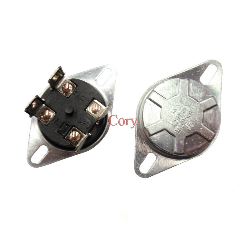 1 adet AC250V 20A KSD302T 75C/85C/92C/93C/95C sıcaklık kontrol cihazı Bimetal termostat normalde kapalı (NC) 4Pin