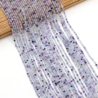 hot natural faceted fluorite stone string beads for jewelry making bracelet necklace accessories women gift size 3x2mm