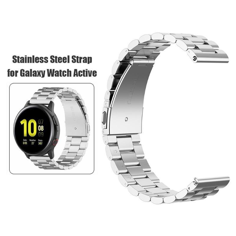 新 20 ミリメートル金属鋼バンド手首ベルトサムスンギャラクシー腕時計アクティブ 2 40/44 ミリメートル快適な着用適度な柔らかさドロップシップ