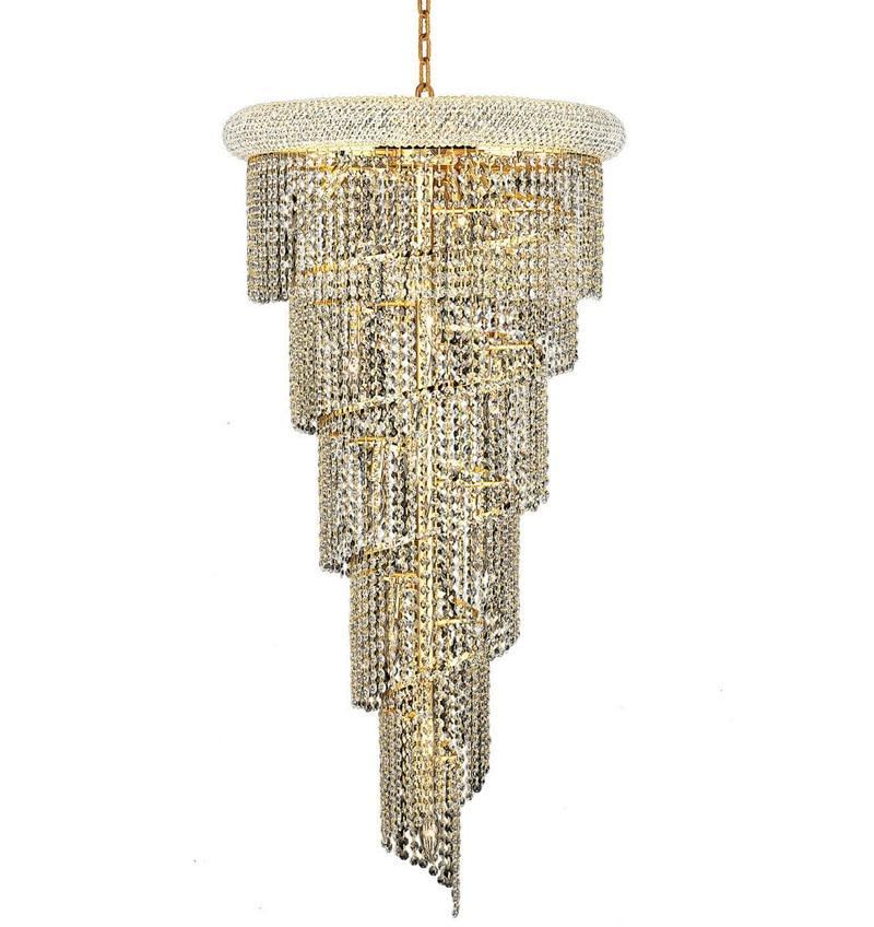 Phube الإضاءة الفرنسية الإمبراطورية الذهب درج كريستال الثريا بريقا الكروم الثريات الثريات الإضاءة الحديثة ضوء الإضاءة