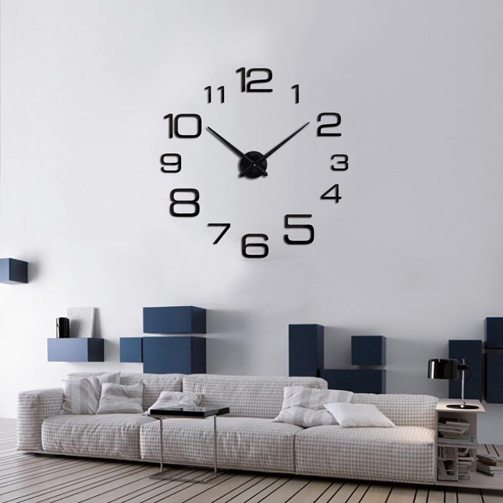 Kreative Digitale Diy Wanduhr Spiegel Wanduhr Hause Dekoration 3d Acryl Spiegel Aufkleber Home Decor Für Wohnzimmer Schlafzimmer