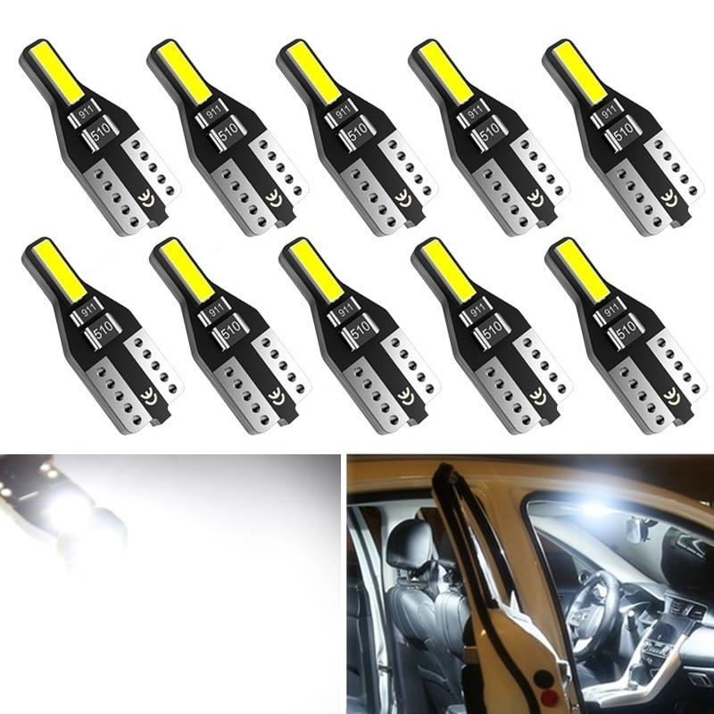10x T10 W5W Светодиодная Лампа 194 168 лампочка для салона автомобиля лампа для чтения для BMW Audi для Volvo и Toyota Subaru Peugeot Nissan Kia Lada