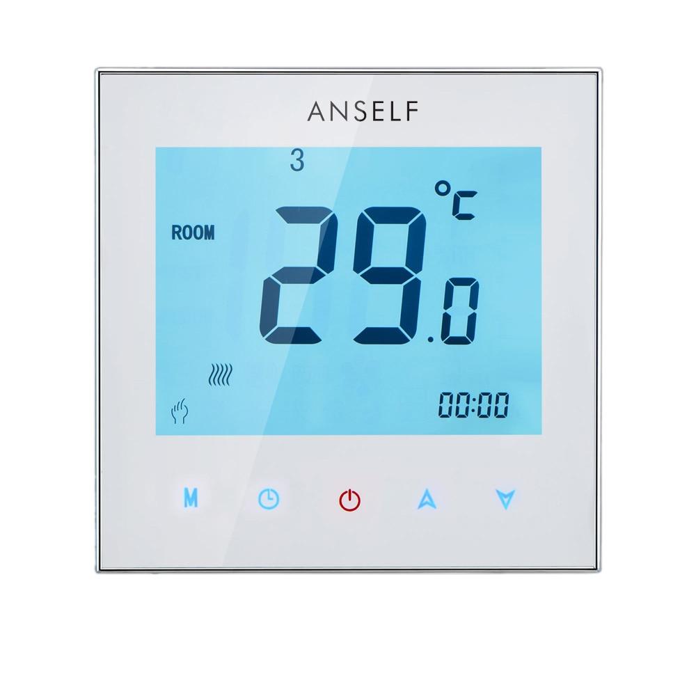 شاشة لمس LCD قابلة للبرمجة أسبوعيًا ، ترموستات ماء/تدفئة كهربائية ، تحكم بدرجة حرارة الغرفة ، للمنزل ، 110-230 فولت ، 5 أ