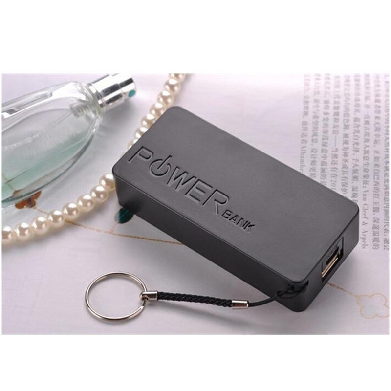 1PC caja de Banco de energía USB 5600mAh 2X 18650 caja de cargador de batería DIY para IPhone para teléfono inteligente MP3 carga electrónica móvil