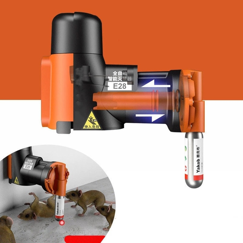 Smart Automatic Humane Non-Toxic Rat and Mouse Trap Kit Rat Mouse Multi-catch Trap Machine CO2 Cylinders