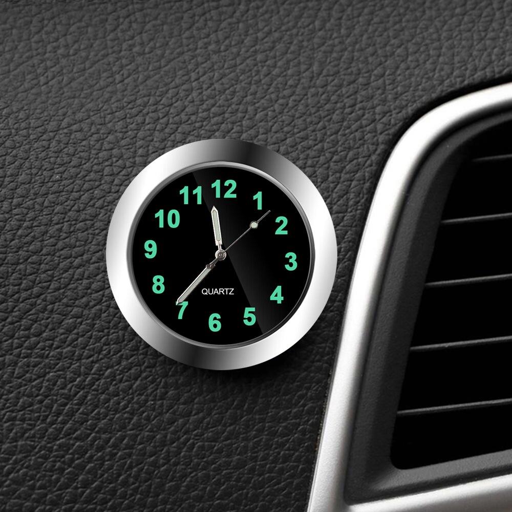 Car Clock Luminous Mini Automobiles Internal Stick-On Digital Watch Mechanics Quartz Clocks Auto Orn