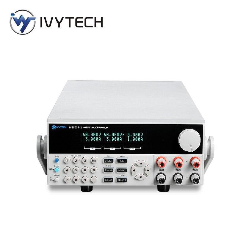 قابل للتعديل برمجة مختبر ثلاثي قناة DC امدادات الطاقة مقعد 30V/6A 60V/3A قرار 1mV 1mA IV-3006T-2/6003T-2