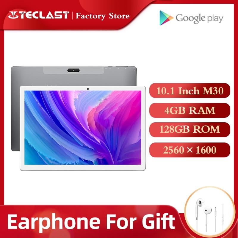 Tabletas Teclast M30 Tablet PC 10,1 pulgadas Android 2560*1600 IPS 4G llamada de teléfono portátil 4GB RAM 128GB ROM tipo-C GPS