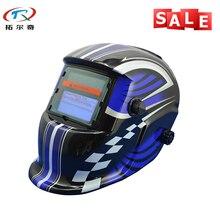 Super bleu moto course solaire Auto assombrissement casque de soudage équipement de soudage TIG MIG MMA électrique masque de soudage chapeau TRQ