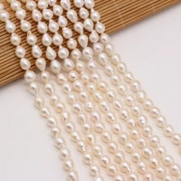 natural freshwater round water drop shape white pearl isolation beads for jewelry making bracelet necklace accessory size 7 8mm