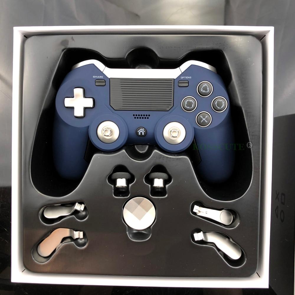 وحدة تحكم لاسلكية bluetooth لـ PS4 ، وحدة تحكم ألعاب Elite مزدوجة الاهتزاز ، وحدة تحكم PS3/PC ، وحدة تحكم ألعاب الفيديو اللاسلكية