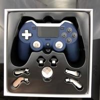 Синий беспроводной контроллер для PS4 Геймпад двойная вибрация Elite игровой контроллер джойстик для PS3/ПК игровая видео приставка