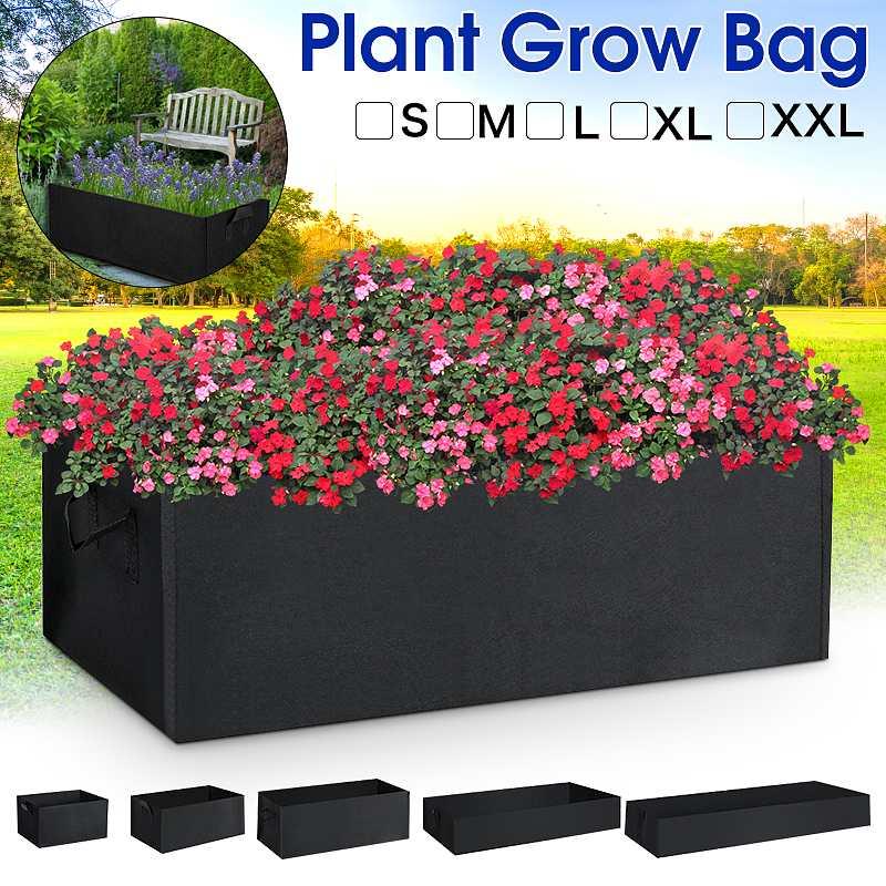 Rectangle Felt Planting Bag Garden Planting Container Grow Bags Breathable Pot for Plants Nursery Pot for Ornamental vegetable