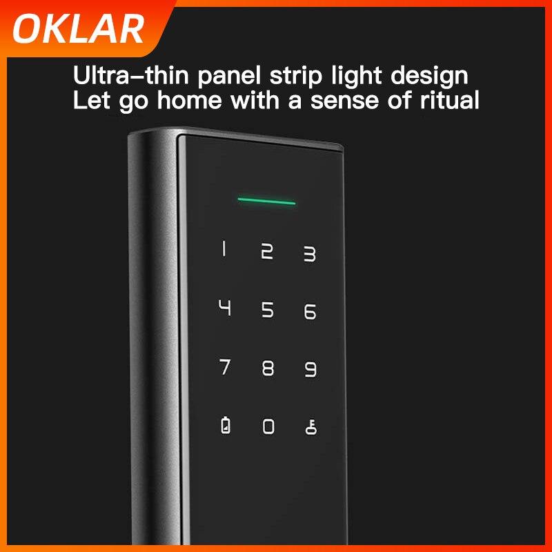 OKLAR Mijia Smart Door Lock Biometric Fingerprint Lock with Password Unlock Detect Alarm Mi Home App Remote Control