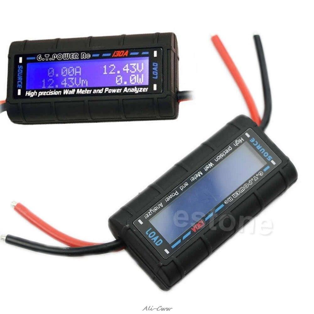 Medidor de 2018G.T.POWER RC 130A, medidor de vatios y analizador de potencia de alta precisión LCD 60V gt-power