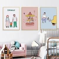 Affiches en toile pour decoration de famille  toile commemorative  peinture murale  images dart imprimees pour chambre denfants  decoration de maison