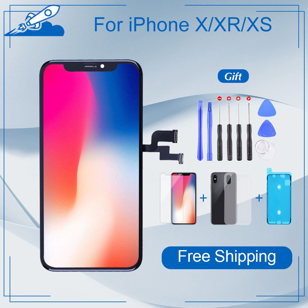 Elekworld Grade For iphone X OLED XS MAX XR TFT With 3D Touch Digitizer Assembly 11 Pro Max LCD Screen Replacement Display screen for iphone x oled 11 pro with 3d touch digitizer assembly lcd screen replacement display for iphonex 11 pro lcd with gift