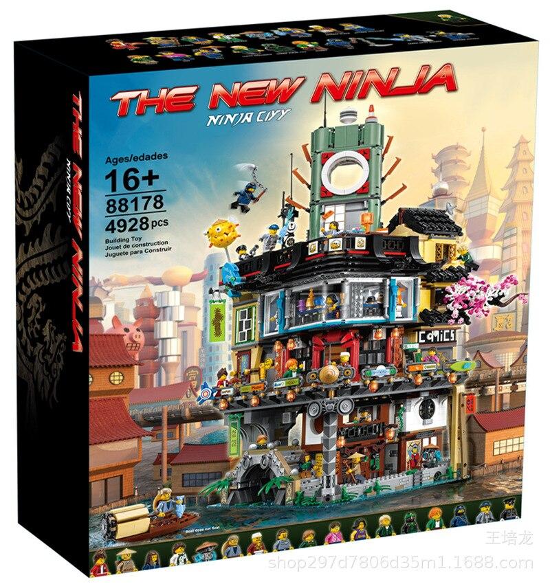 Конструктор MOC классический архитектурный в японском стиле из фильмов, строительные блоки 70620 06066, детские игрушки, развивающая сборка, пода...
