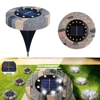 816leds solar power garden stone like buried light outdoor pathway lawn underground waterproof home decor night landscape lamp