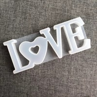 1 pc heart shape love silicone mould letters crystal resin mold diy crafts casting molds home decoration jewelry making tool