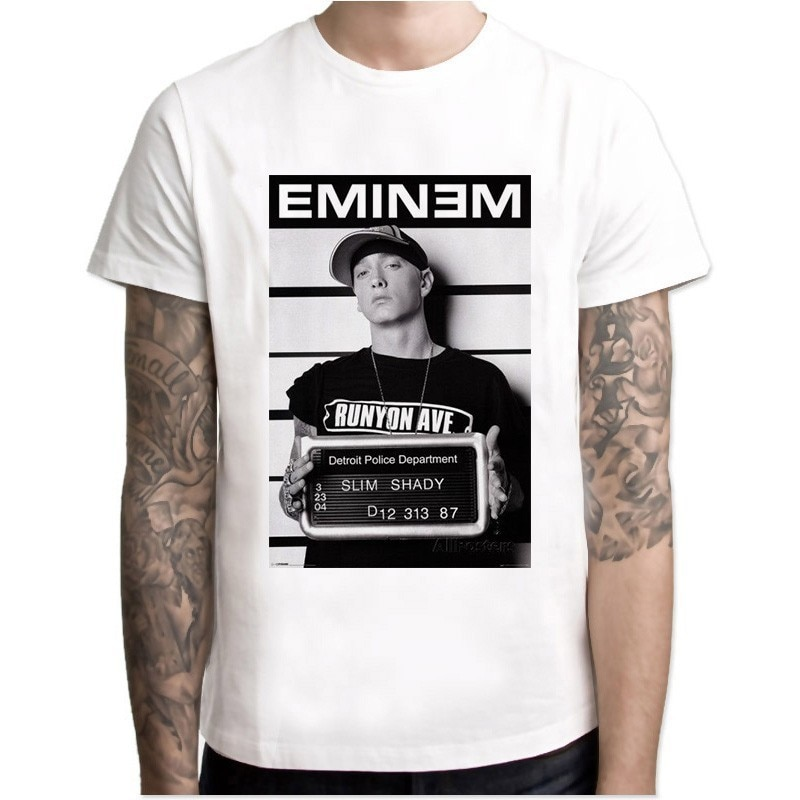 Eminem T-Shirt Hip Hop Freddo T Camicette Makaveli Rapper Snoop Dogg Biggie Smalls J Cole Jay-z savage Hip Hop Rap Musica Magliette e camicette