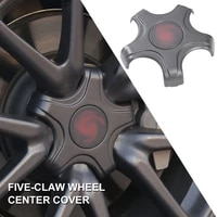 4pcs car wheel center hub cover center cap emblem car styling car accessories modification carbon abs fiber for tesla model 3