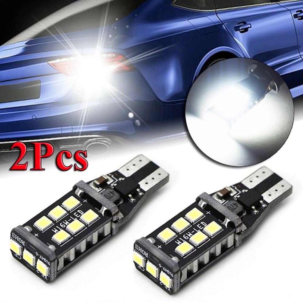 2 uds bombilla LED tipo Canbus para coche luz de retroceso de marcha atrás blanca superbrillante 912 921 T15 W16W DC 12V 6500K 11W/bombilla 1200LM Luz de coche