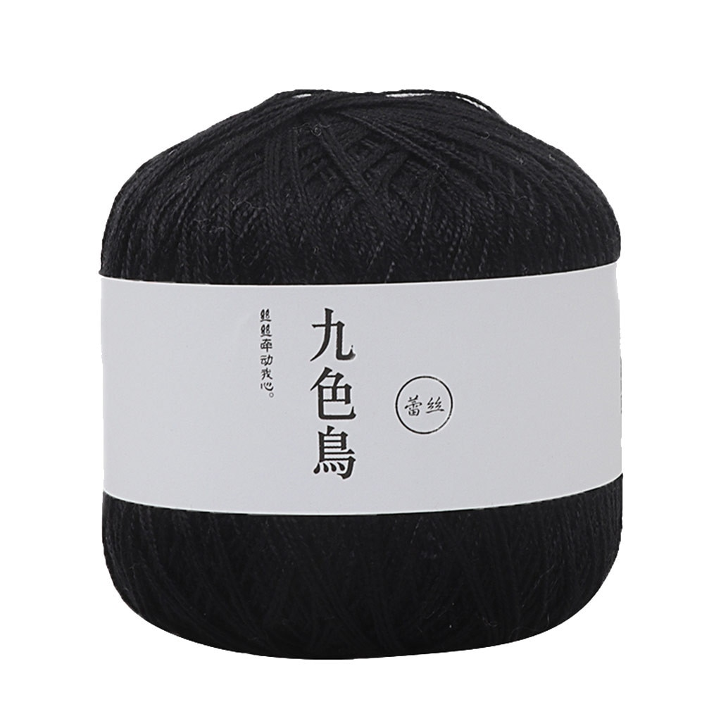 Solid Color Wool Group Knitting Yarn Lace Thread Diy Woven Cotton Fine Cotton Yarn Thread Crochet 8th Yarns Haakgaren Katoen