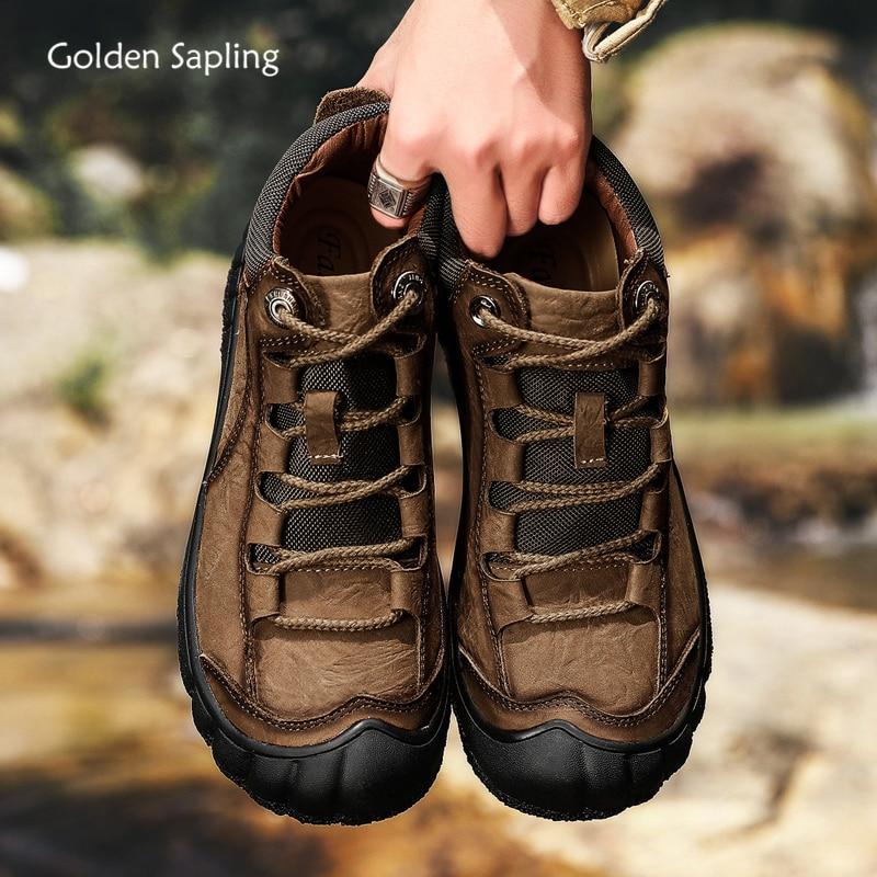 حذاء برقبة جلد طبيعي للرجال ، حذاء ريترو كاجوال دافئ ، حذاء شتوي كلاسيكي ، موضة ، خياطة ، حذاء ترفيهي