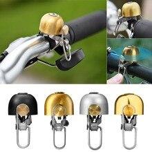 Universel vélo cloche Vintage casque forme Super fort pliant alarme klaxon pour Scooters vélo guidon vélo accessoires