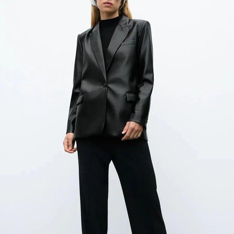 Кожаный пиджак женская верхняя одежда جاكيتات للنساء 2021 فو جلدية курька женская осень casacas الفقرة موهير