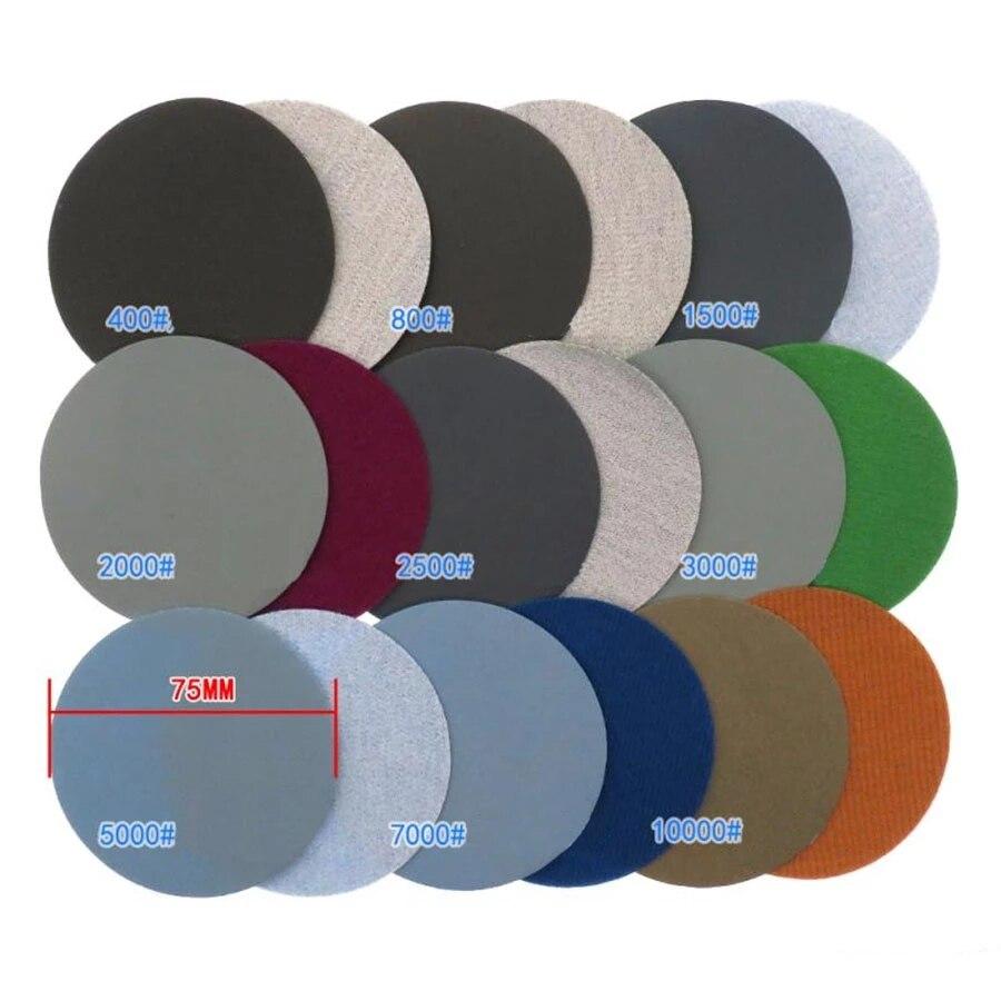 Круглые наждачные диски из карбида кремния, 3 дюйма, 75 мм, 5 шт.-100 шт.