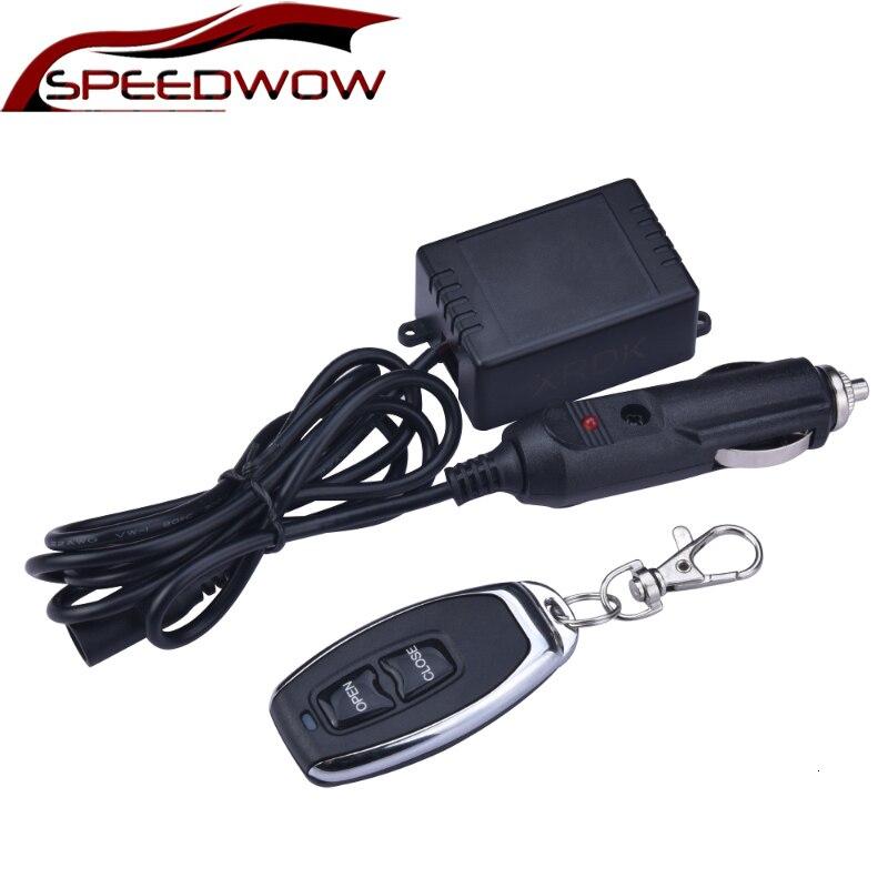 SPEEDWOW 12V interruptor de Control remoto electrónico + caja de Control para escape eléctrico Kit de recorte de accesorios de coche modificado