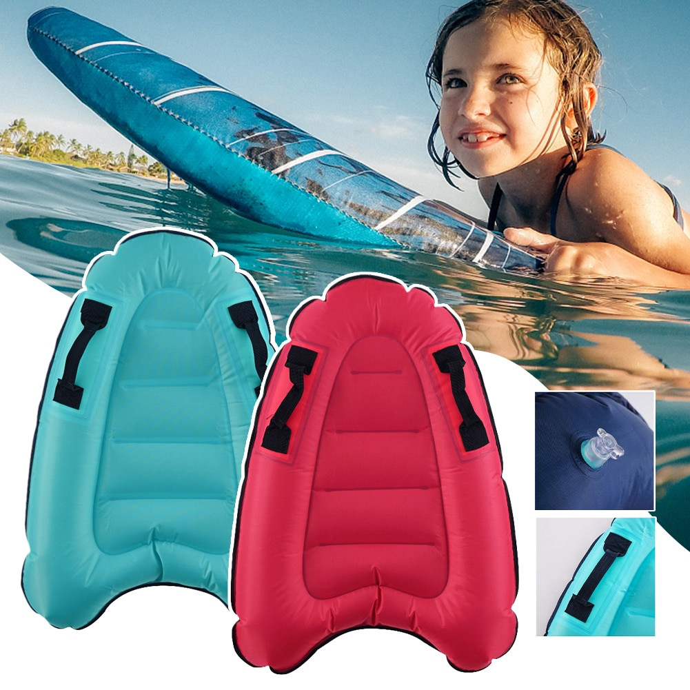 Children Inflatable Bodyboards Kids Lightweight Soft Mini Surfboards Outdoor Swimming Pool Beach Floating Mat Pad Float