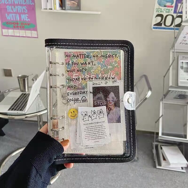 Kawaii A6/A5 прозрачный блокнот, фотооткрытки, Коллекционирование книг, дневник, ежедневник, планировщик, канцелярские принадлежности для школы