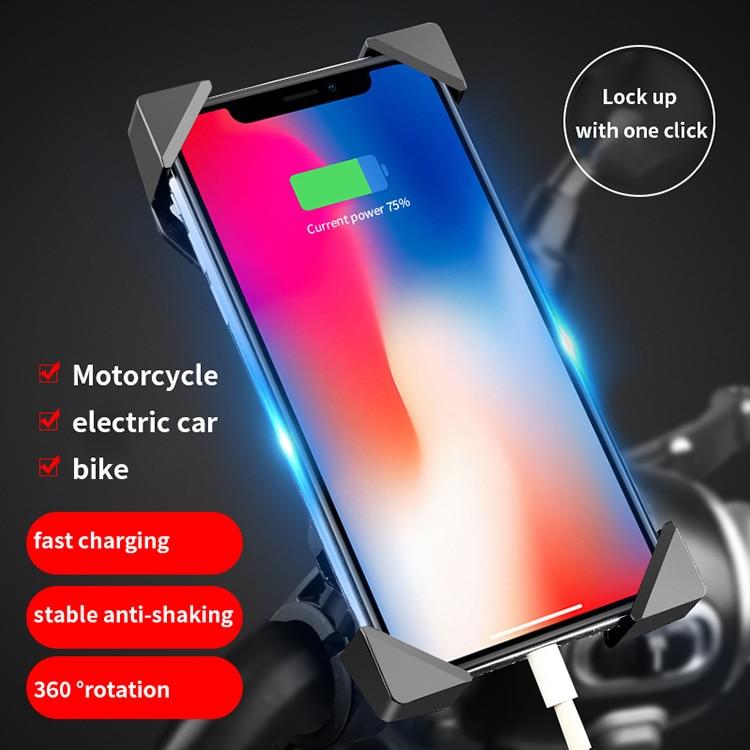 Motorcycle Mobile Phone Bracket Waterproof USB Car Charger Electric Car Navigation Bracket Universal Takeout Bracket
