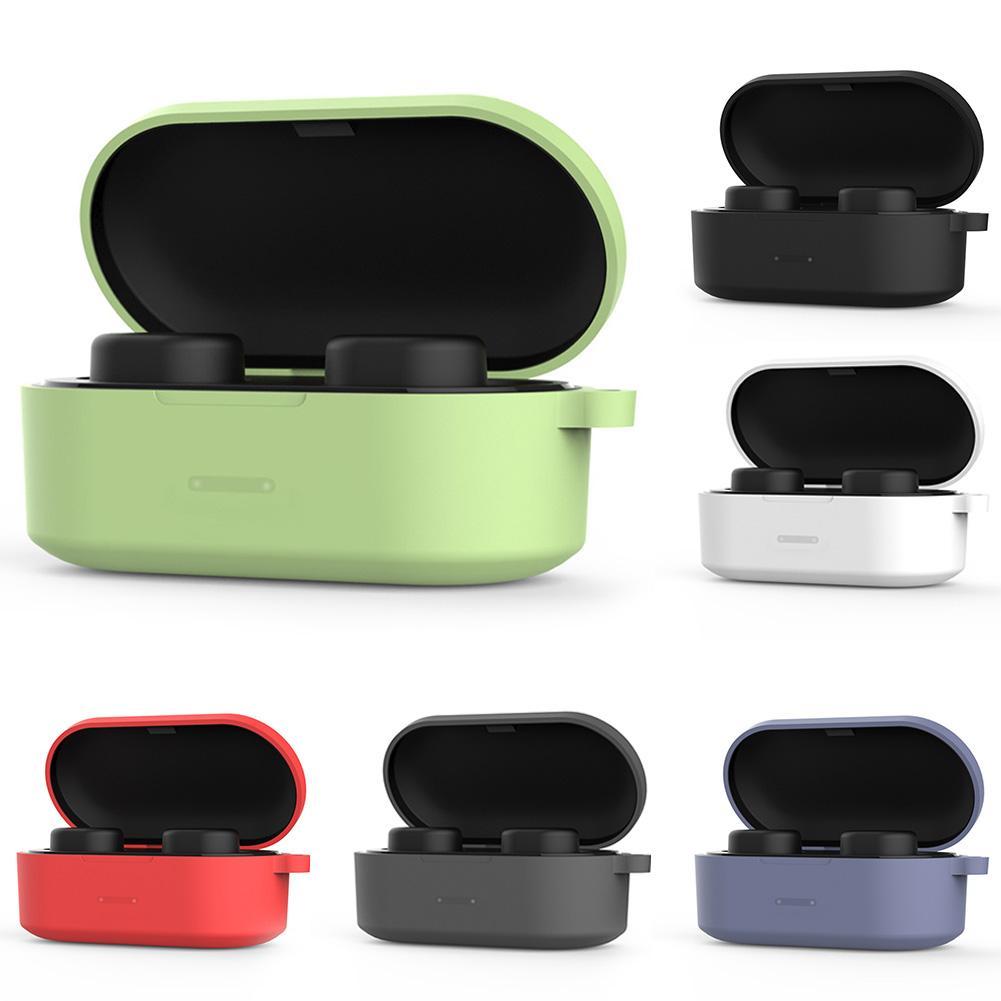 Caja protectora de silicona para auriculares Bluetooth para QCY T1S/QS2/T2C