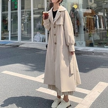 Trench Coat Women 2021 New Mid-length Autumn Clothes British Style Korean Fashion Loose Temperament