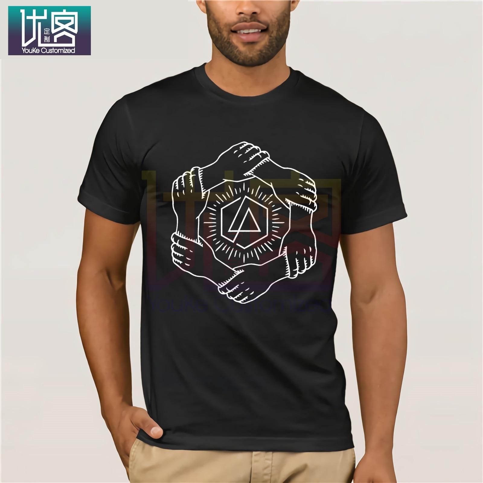 Camisetas de diseño para hombre Linkin Park & Crossbones chicas Juniors negro camiseta nueva Cool divertida camisetas divertidas camisetas de algodón