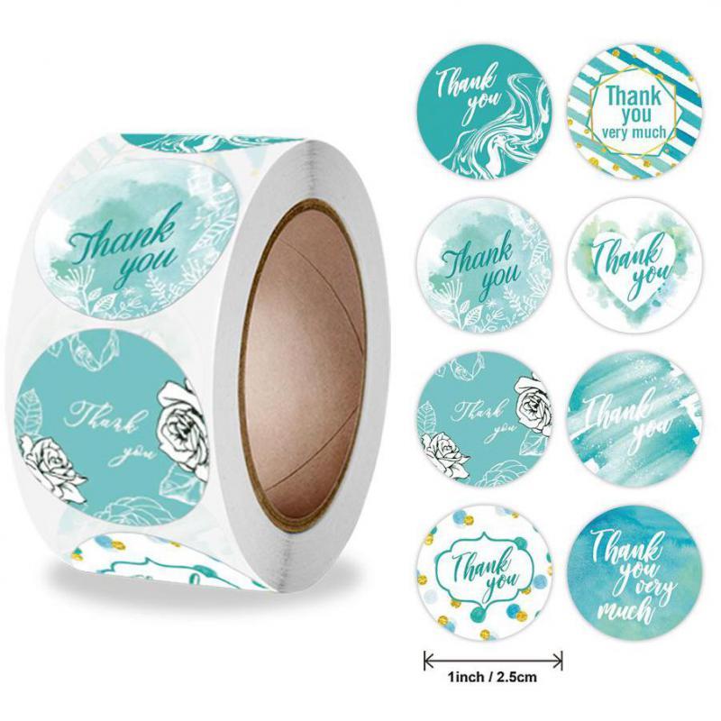 500-pezzi-grazie-adesivi-blu-acquerello-grazie-busta-adesivi-sigillanti-per-piccole-imprese-matrimonio-baby-shower-nuziale