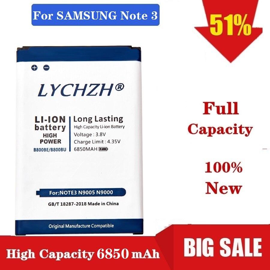 2020 yeni 6850mAh B800BC B800BE/BU pil Samsung Galaxy not 3 için N9000 N9005 N900A N900 N9002 N9008 n9009 N9006 N9008S