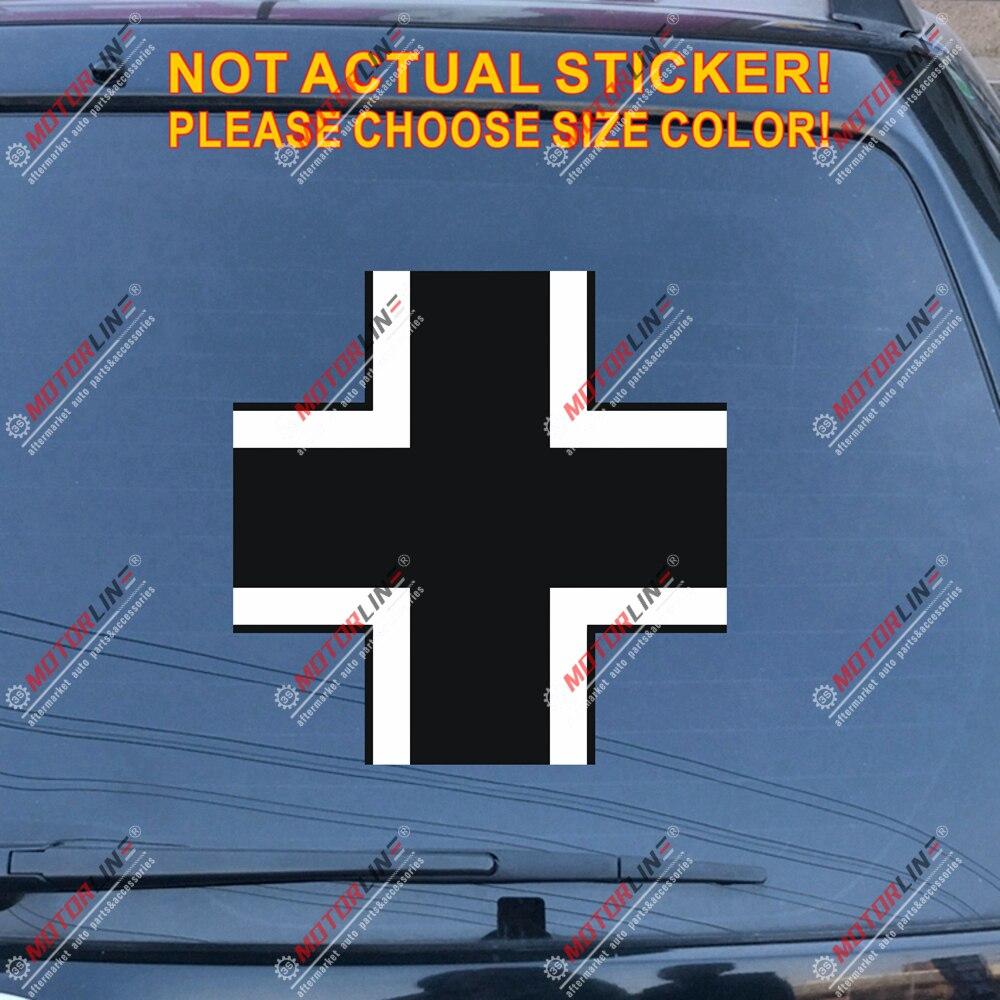 Cruz de Hierro Alemania etiqueta alemana pegatinas de vinilo para autos reflectante brillante 1916