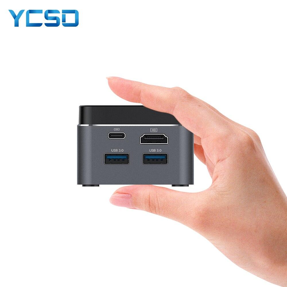 Mini PC Intel Celeron N4100 Quad-Core 6GB LPDDR4 128GB SSD 2.4G/5.0G WiFi Bluetooth 4.2 HDMI2.0 4K 60Hz USB-C Windows10 Computer