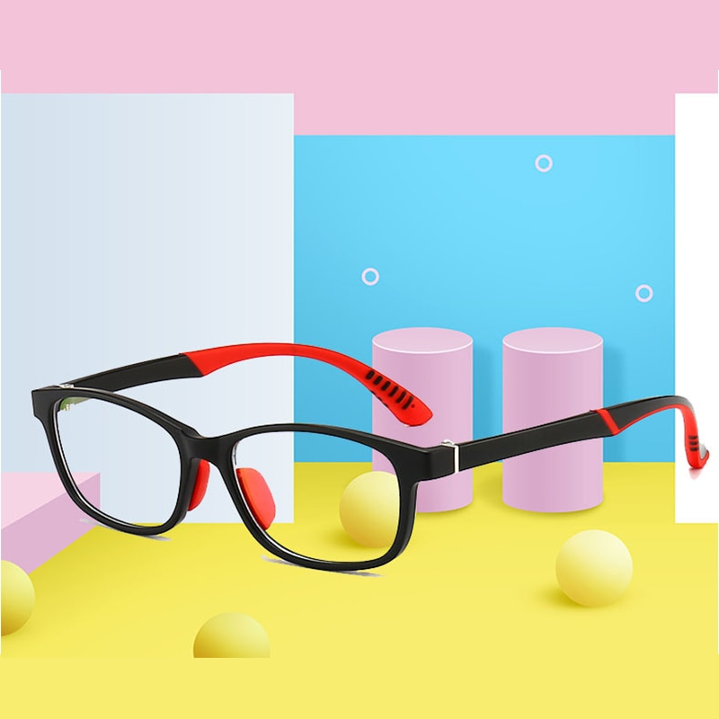 Nuevo Anti azul claro niños gafas niños niñas marco óptico cuadrado ordenador transparente gafas niños silicona suave gafas