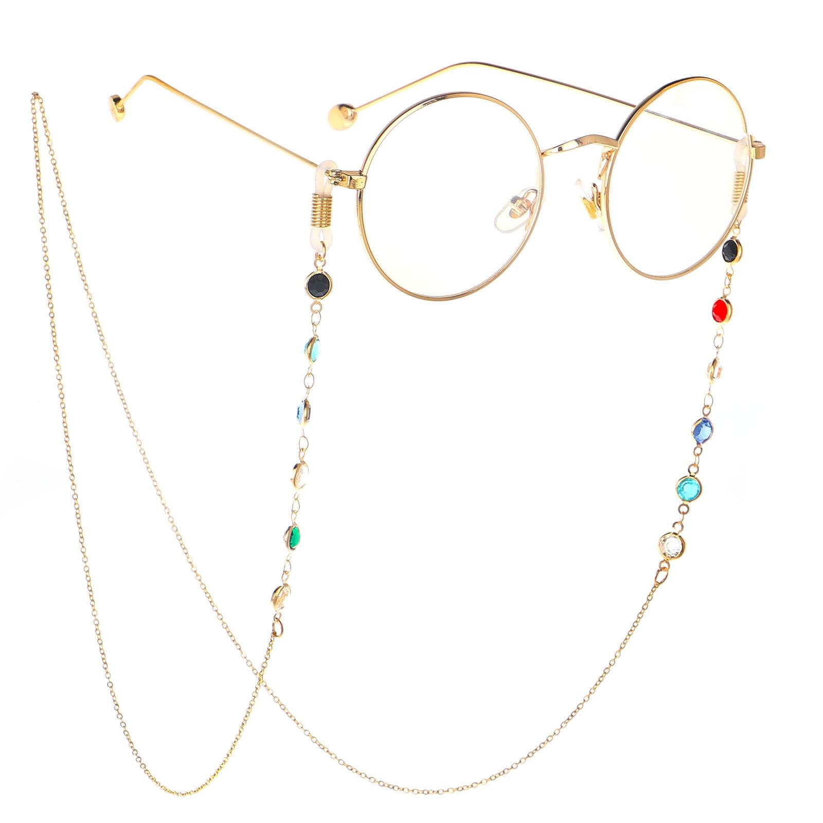 Cadena de gafas largas de lectura coreana para hombres y mujeres accesorios de gafas de acero inoxidable 75CM collar de gafas de sol correa de cordón de Anteojos