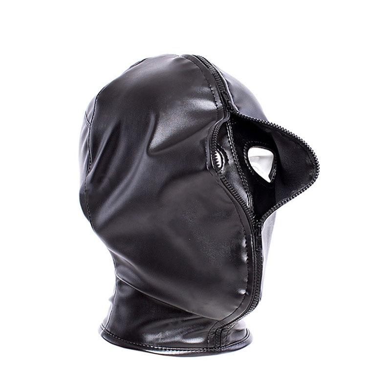 Máscara de capuz bdsm, duas camadas, máscara de capuz para cosplay de halloween